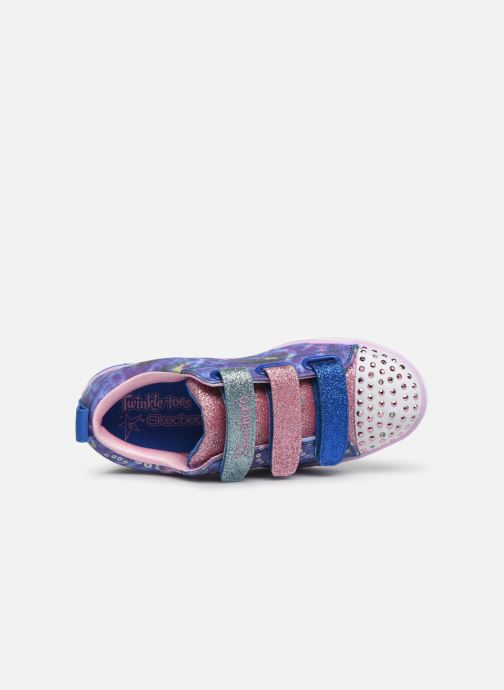 Baskets Skechers Sparkle Lite Rainbow Brights Argent vue gauche