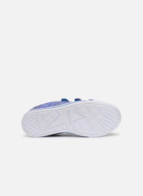 Sneakers Skechers Sparkle Lite Rainbow Brights Zilver boven