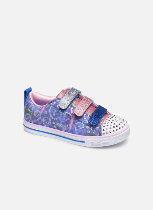 Trainers Skechers Sparkle Lite Rainbow Brights Silver detailed view/ Pair view