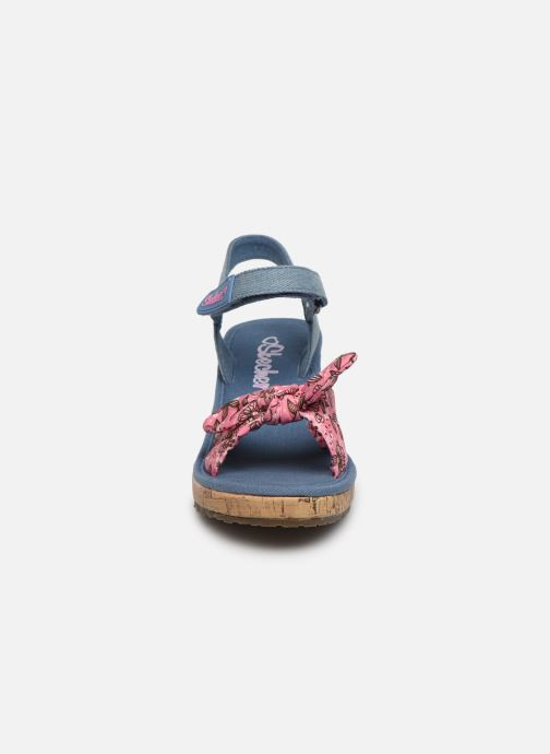 Sandales et nu-pieds Skechers Tikis Bleu vue portées chaussures