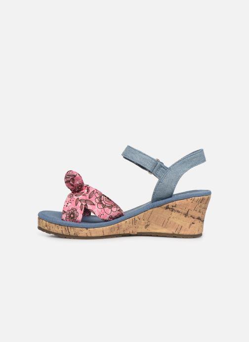 Sandales et nu-pieds Skechers Tikis Bleu vue face