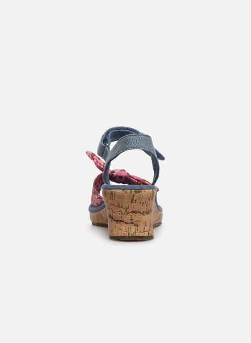 Sandalias Skechers Tikis Azul vista lateral derecha