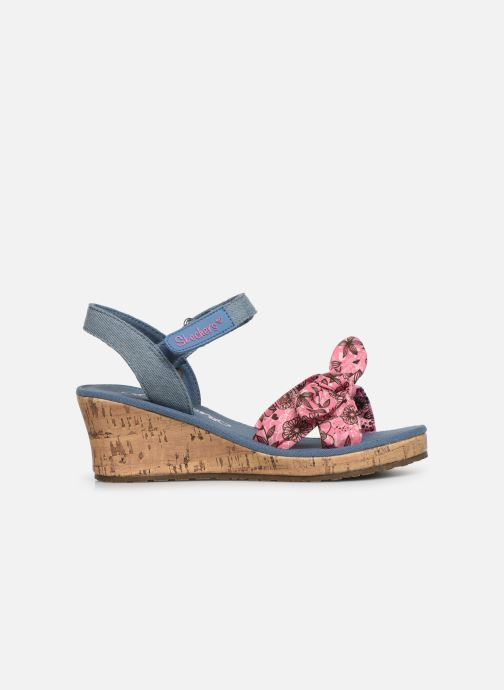 Sandales et nu-pieds Skechers Tikis Bleu vue derrière