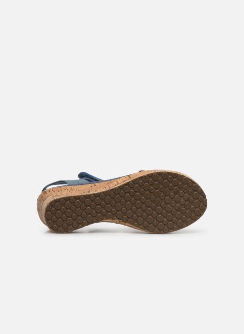 Sandales et nu-pieds Skechers Tikis Bleu vue haut
