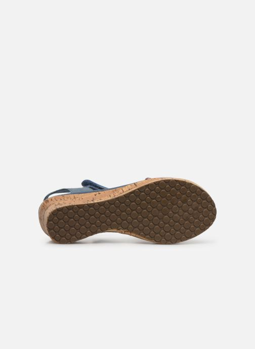 Sandals Skechers Tikis Blue view from above