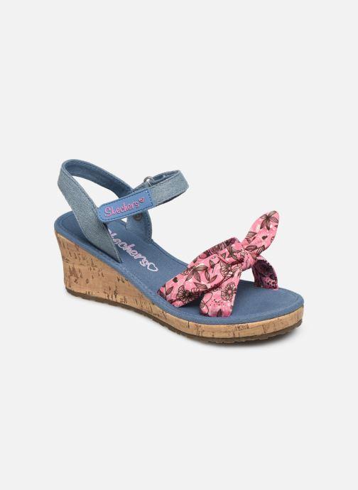 Sandales et nu-pieds Skechers Tikis Bleu vue détail/paire