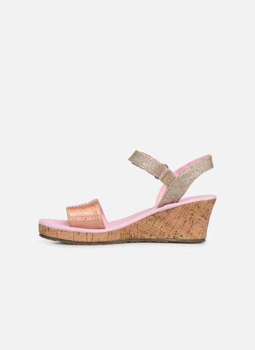 Sandales et nu-pieds Skechers Tikis Or et bronze vue face
