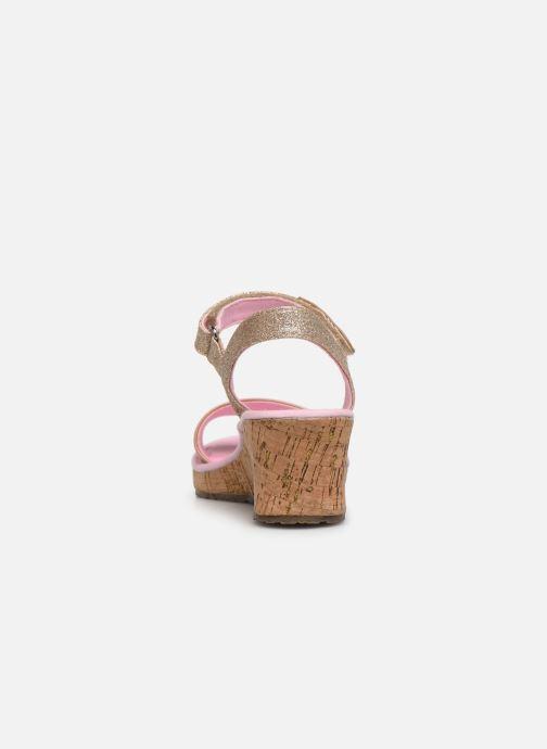 Sandales et nu-pieds Skechers Tikis Or et bronze vue droite
