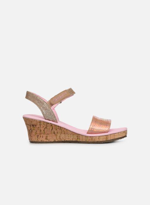Sandales et nu-pieds Skechers Tikis Or et bronze vue derrière