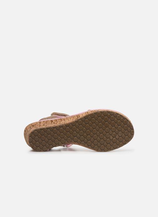 Sandales et nu-pieds Skechers Tikis Or et bronze vue haut