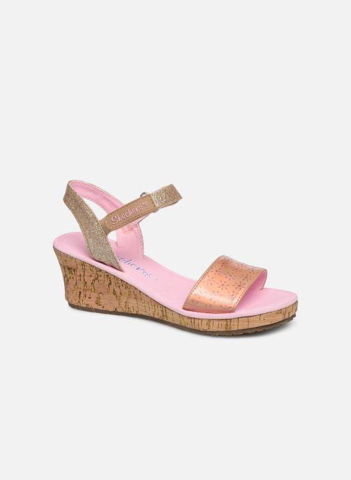 Sandales et nu-pieds Skechers Tikis Or et bronze vue détail/paire
