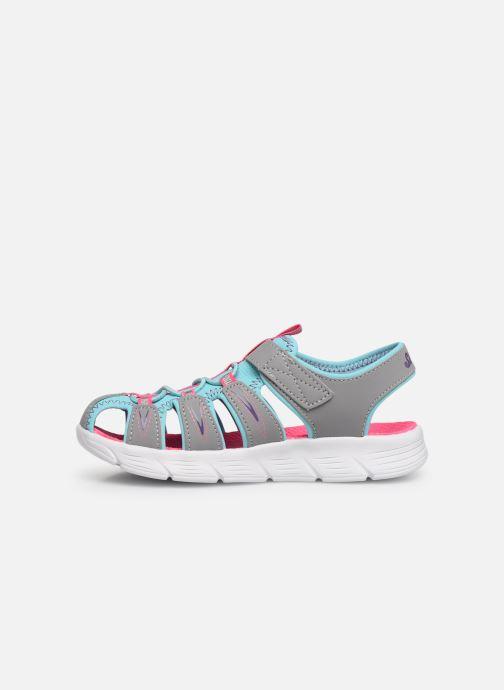 Sandalias Skechers C-Flex Sandal Aqua Steps Gris vista de frente