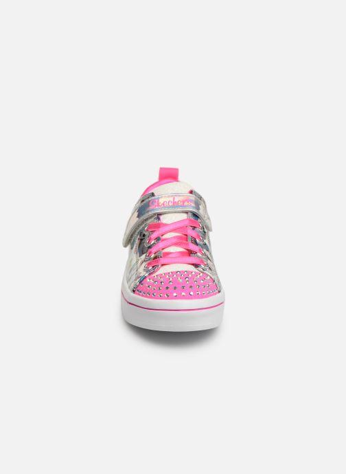 Baskets Skechers Twi-Lites Fancy Faces Rose vue portées chaussures