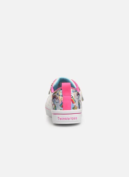 Baskets Skechers Twi-Lites Fancy Faces Rose vue droite