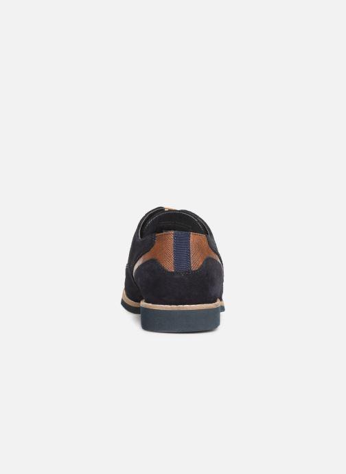 Zapatos con cordones Redskins Franck Azul vista lateral derecha