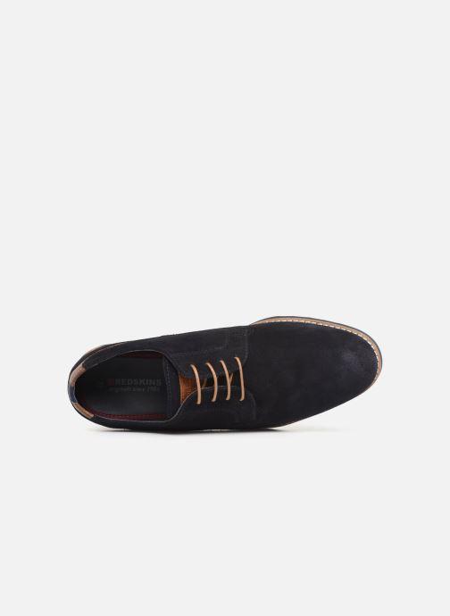 Zapatos con cordones Redskins Franck Azul vista lateral izquierda
