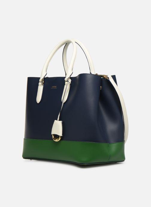 Handtaschen Lauren Ralph Lauren MARCY SATCHEL blau schuhe getragen