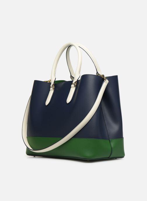 Handtaschen Lauren Ralph Lauren MARCY SATCHEL blau ansicht von rechts