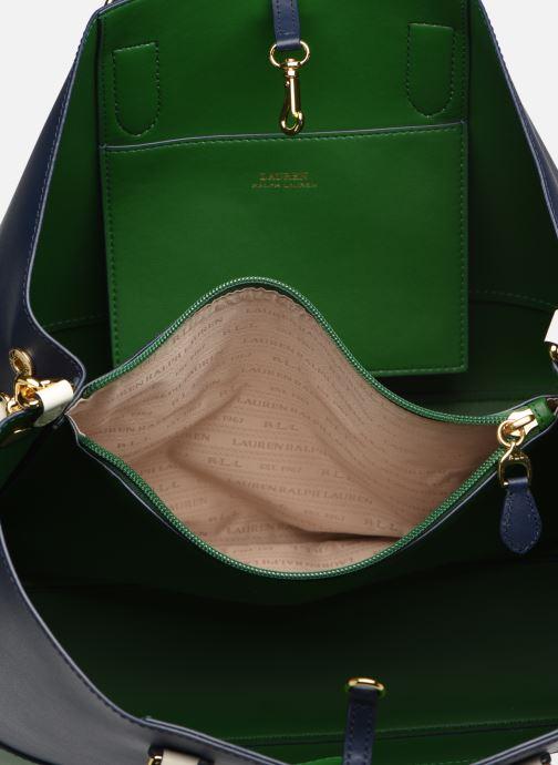 Handtaschen Lauren Ralph Lauren MARCY SATCHEL blau ansicht von hinten