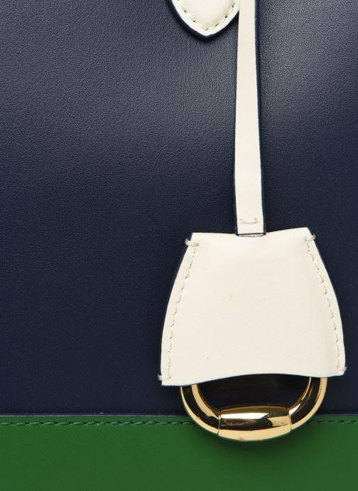 Handtaschen Lauren Ralph Lauren MARCY SATCHEL blau ansicht von links