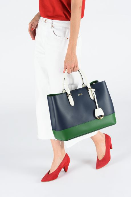 Handtaschen Lauren Ralph Lauren MARCY SATCHEL blau ansicht von unten / tasche getragen