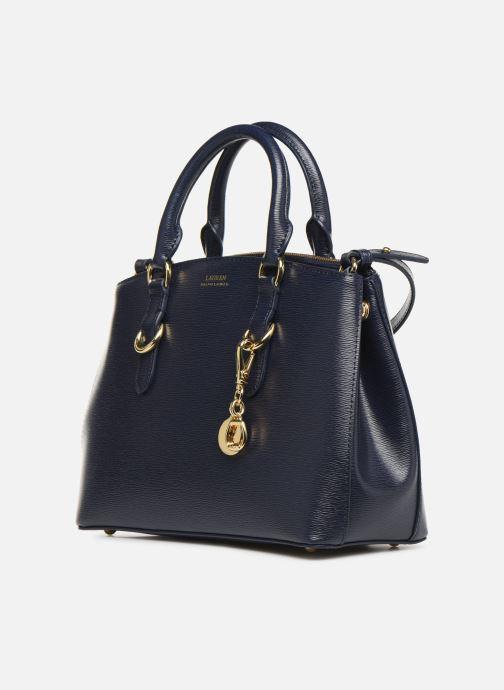 Borse Lauren Ralph Lauren BENNINGTON SATCHEL Azzurro modello indossato