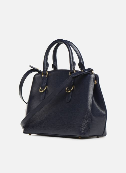 Handtaschen Lauren Ralph Lauren BENNINGTON SATCHEL blau ansicht von rechts