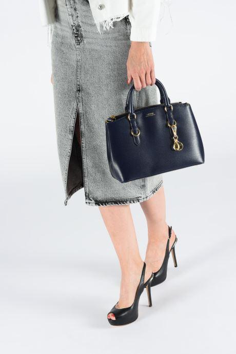 Handtaschen Lauren Ralph Lauren BENNINGTON SATCHEL blau ansicht von unten / tasche getragen