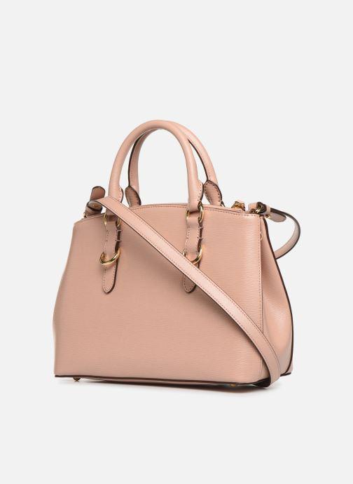 Handtaschen Lauren Ralph Lauren BENNINGTON SATCHEL rosa ansicht von rechts