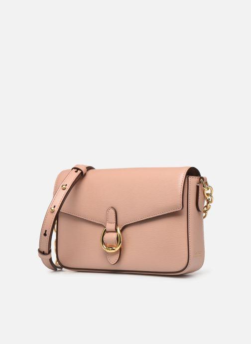 Bolsos de mano Lauren Ralph Lauren BENNINGTON CROSSBODY Rosa vista del modelo