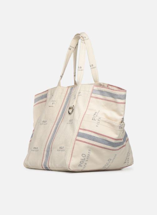 Bolsos de mano Polo Ralph Lauren MD SQ LDRY TOTE M Blanco vista del modelo