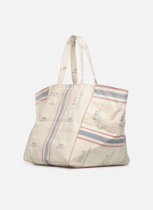 Handtaschen Polo Ralph Lauren MD SQ LDRY TOTE M weiß ansicht von rechts