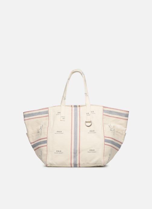 Sacs à main Polo Ralph Lauren MD SQ LDRY TOTE M Blanc vue détail/paire