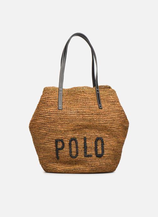 Bolsos de mano Polo Ralph Lauren LG P RAF TOTE L Marrón vista de detalle / par