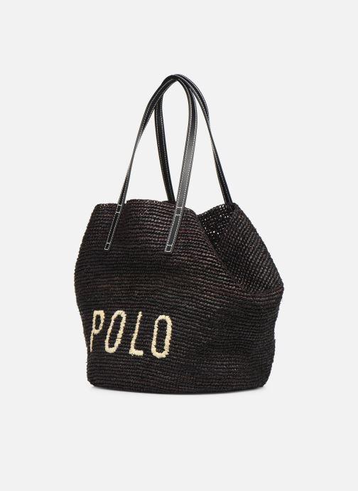 Sacs à main Polo Ralph Lauren LG P RAF TOTE L Noir vue portées chaussures