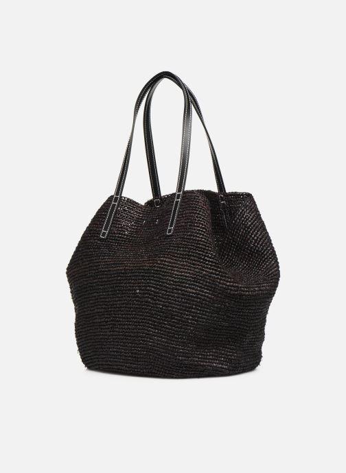 Handtaschen Polo Ralph Lauren LG P RAF TOTE L schwarz ansicht von rechts