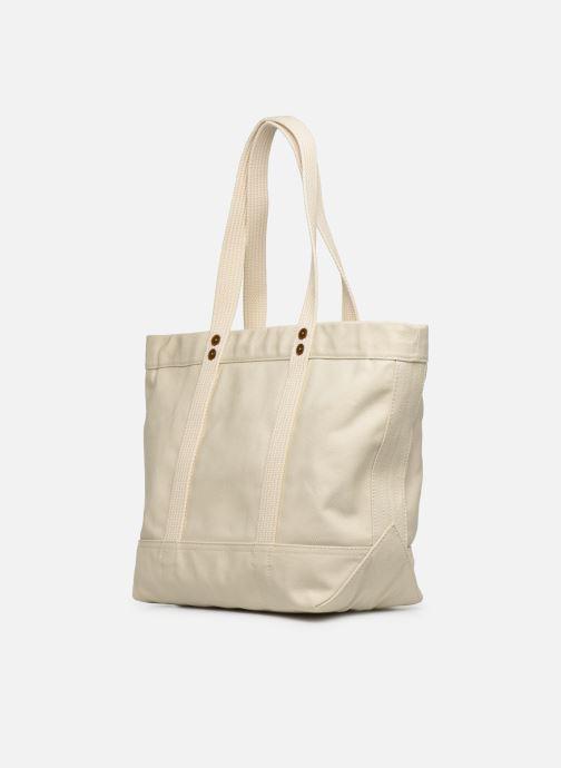 Handtassen Polo Ralph Lauren PP TOTE M Wit rechts