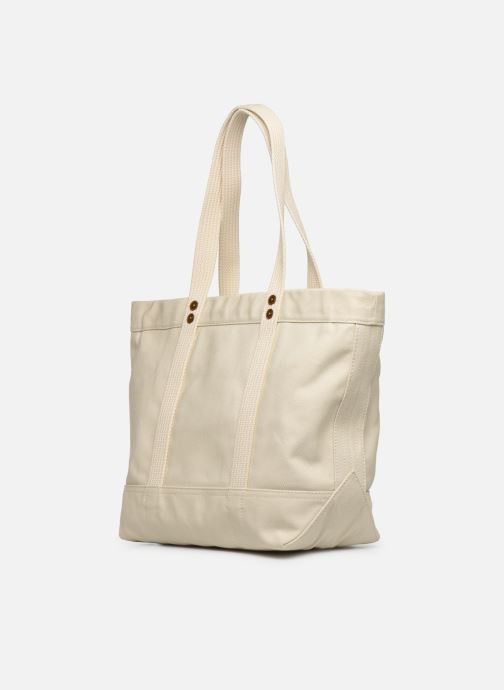 Handbags Polo Ralph Lauren PP TOTE M White view from the right
