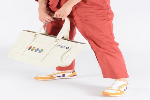 Sacs à main Polo Ralph Lauren PP TOTE M Blanc vue bas / vue portée sac