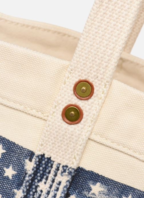 Bolsos de mano Polo Ralph Lauren PP TOTE M Blanco vista lateral izquierda