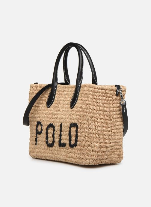 Sacs à main Polo Ralph Lauren STRUCTURED BASKET TOTE S Beige vue portées chaussures