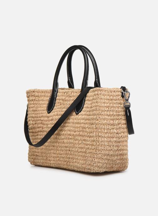 Handtaschen Polo Ralph Lauren STRUCTURED BASKET TOTE S beige ansicht von rechts