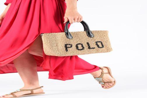 Sacs à main Polo Ralph Lauren STRUCTURED BASKET TOTE S Beige vue bas / vue portée sac