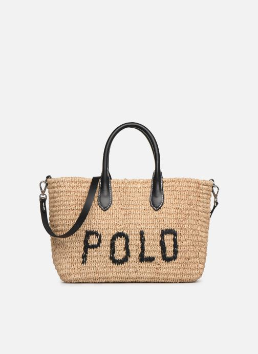 Sacs à main Polo Ralph Lauren STRUCTURED BASKET TOTE S Beige vue détail/paire