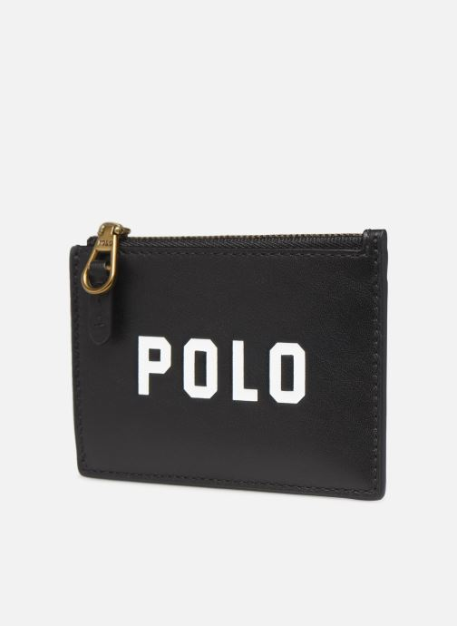Pelletteria Polo Ralph Lauren ZIP CC CARD CASE S Nero modello indossato