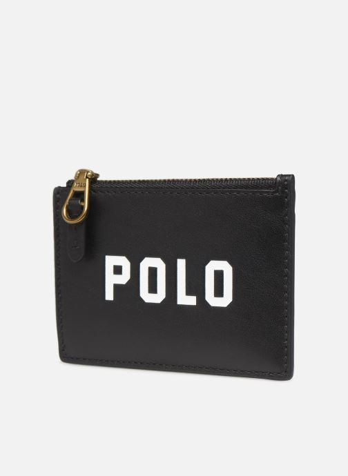 Pelletteria Polo Ralph Lauren ZIP CC CARD CASE S Nero modello indossato
