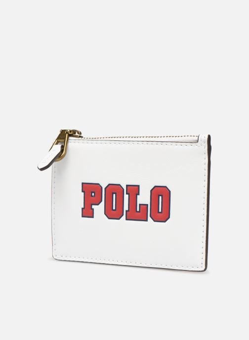 Petite Maroquinerie Polo Ralph Lauren ZIP CC CARD CASE S Blanc vue portées chaussures