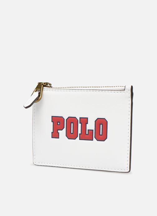 Portemonnaies & Clutches Polo Ralph Lauren ZIP CC CARD CASE S weiß schuhe getragen