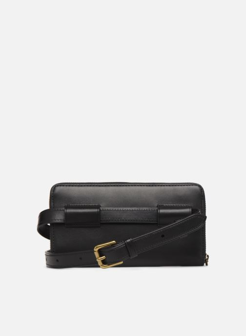 Kleine lederwaren Polo Ralph Lauren LONG ZIP BELT BAG Zwart voorkant