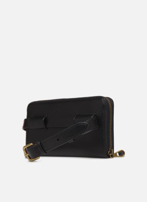Kleine lederwaren Polo Ralph Lauren LONG ZIP BELT BAG Zwart rechts